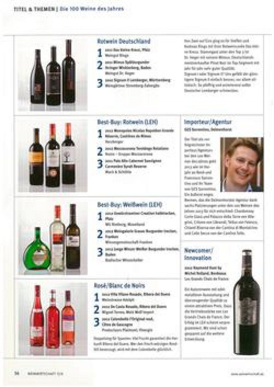 La revista 'Weinwirtschaft', la más influyente en el sector del vino en Alemania, ha elegido al Rosado de Viña Vilano como el mejor rosado del mundo en 2013