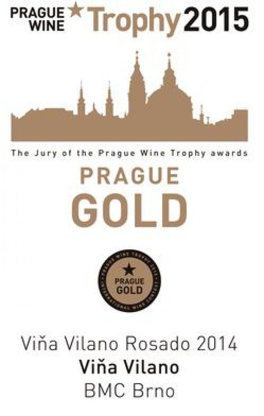 """El Rosado Viña Vilano cosecha un nuevo éxito internacional, al lograr la Medalla de Oro en el """"Prague Wine Trophy 2015"""""""