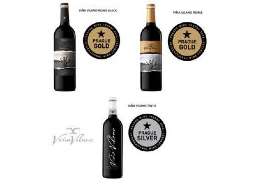 Dos medallas de oro y una de plata para los vinos de Viña Vilano en el Prague Wine Trophy