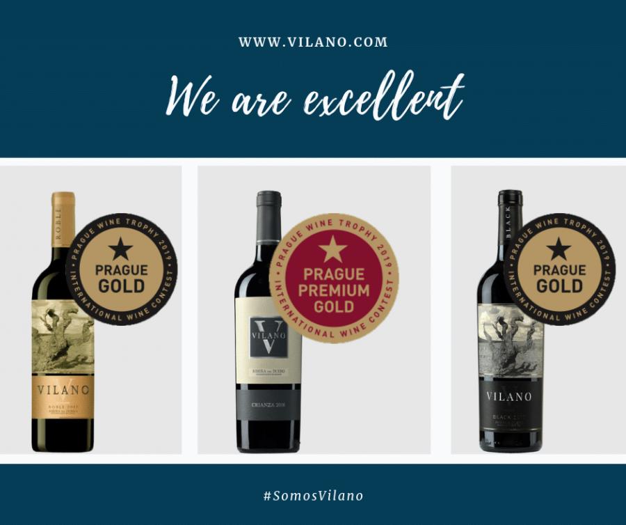 Bodegas Vilano cosecha dos oros y un Gran Oro en la Prague Wine Trophy 2019